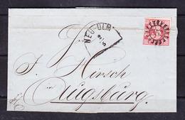 Sc-19-92 LETTER FROM NEU-ULM TO AUSBURG. 1863 YEAR. - Bavaria