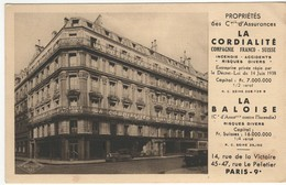 """Paris 9e - Immeuble Des Assurances """"la Cordialité"""" Et """"la Baloise"""" - Altri"""