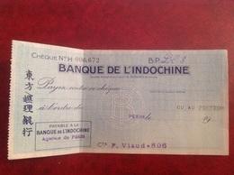 Banque De L'Indochine, Pékin, Viaud Consul De France En Chine - Oude Documenten