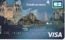 MONT ST MICHEL / NOTRE DAME DE PARIS  / ETRETAT   = PATRIMOINE TOURISTiQUE FRANCAIS    Tres Rare - Cartes Bancaires Jetables