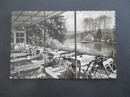BRD 1955 Michel Nr. 213 Echtfoto AK Bruchermühle Im Ittertal Post Haan Rhld. Inh. Wilh. Horstmann - [7] Federal Republic