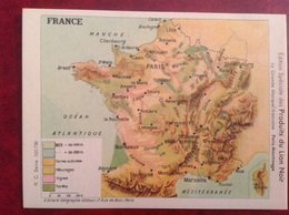 Chromo Carte De France , Paris Montrouge, Lion Noir Publicité - Chromos
