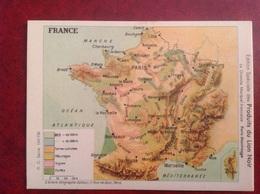 Chromo Carte De France , Paris Montrouge, Lion Noir Publicité - Trade Cards