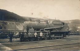 J14 - Train - Carte Photo D'une Locomotive à Vapeur - Treinen