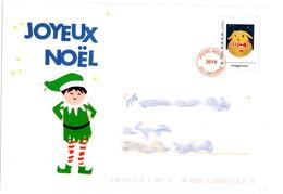 Entier Postal Monde Réponse Du Père Noël 2019 (ouverte Et Vide) Lot 42J/228964 - Postwaardestukken