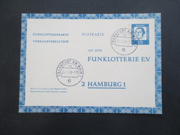 Berlin FP 7 Funklotterie E.V. Postkarte / Ganzsache Bedeutende Deutsche Gebraucht / Gestempelt 1966 - [5] Berlin