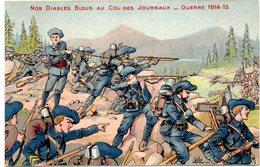 CPA   -  GUERRE 1914/1818  -  Les Diables Bleus  -  écrite - Guerra 1914-18