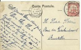 E.P. Carte DEUTSCH OSTAFRIKA 7½pfg Obl. Sc USUMBURA 14/6 1912 Sur C.V.  Vers Bruxelles - 14947 - Timbres