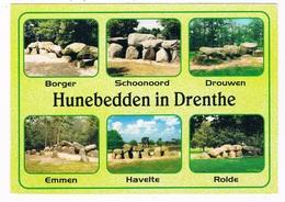 HUN-52    DRENTHE : 6 Different Spots With A Hunebed ( Dolmen) - Dolmen & Menhirs