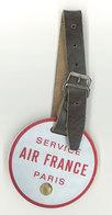 Aviation - Plaque De Bagage Service Air France Paris - Aviation Commerciale