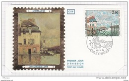 L4I208 MONACO 1974 FDC Sisley Inondations A Port Marly 2,00f Monaco A 12 11 1974 - Modernos