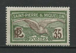 SPM MIQUELON 1909 N° 86 * Neuf MH Superbe C 0,90 € Oiseaux Goéland Birds Faune Animaux - St.Pedro Y Miquelon