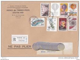 L4J048 France 1983 LR Paris 07 Pour Roubaix Nord Aff. 17,80f Cad 05 08 1983 - France