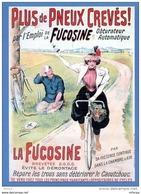 L4K136  VA1019 Vieilles Affiches Pub La Fucosine Plus De Pneux Crevés Cycless Hurtu / CP Neuve - Publicidad