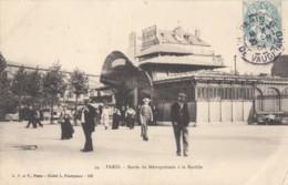 CPA - Paris - Sortie Du Métropolitain à La Bastille - Stations, Underground