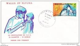 L4N122 WALLIS ET FUTUNA 1981 FDC Dr Calmette Dr Guerin BCG 27f Mata-Utu 28 08 1981/ Envel.  Illus. - FDC