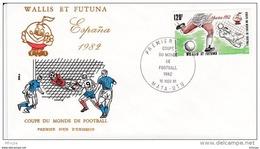 L4N127 WALLIS ET FUTUNA 1981 Football FDC Espana 1982 120f Mata-Utu 16 11 1981/envel.  Illus. - Coupe Du Monde