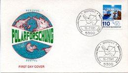 """BRD Schmuck-FDC """"Polarforschung"""" Mi.1100  ESSt BONN 1, 10.6.1981 - [7] Federal Republic"""