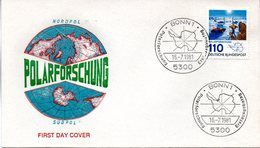 "BRD Schmuck-FDC ""Polarforschung"" Mi.1100  ESSt BONN 1, 10.6.1981 - [7] République Fédérale"