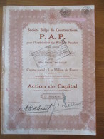 Société Belge De Constructions P.A.P. Pour L'exploitation Des Procédés Pauchot - Textile