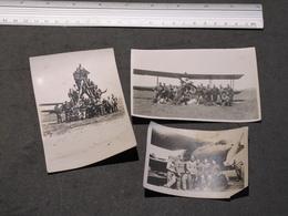 EVERE - CHAMP D'AVIATION - 15/6/28 - 3 PHOTOS 3/B - MILITAIRES - AVION BREGUET 450 HP - ET LISTE SOLDATS AU DOS 1 PHOTO - War, Military