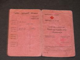 CROIX ROUGE BELGIQUE - ROCHEFORT -LAISSER-PASSER DEL A AMBULANCIERE JAUMOTTE MARIE LE 27/6/1943 - 1939-45