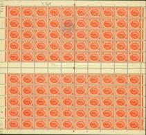 Tunisie 1950 - Timbres Neufs (MNH). Yvert Nr.: 341- Feuille De 100 Timbres..... (VG) DC5353 - Tunisia (1888-1955)