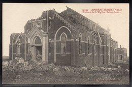 ARMENTIERES 59 - Ruines De L'Eglise Saint Louis - #B764 - Armentieres