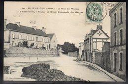 SILLE LE GUILLAUME 72 - La Place Des Minimes - La Gendarmerie, L'Hospice Et L'Ecole Des Garçons - #B765 - Sille Le Guillaume