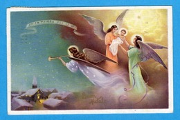 Noel Weihnachten Christmas Anges Engeln Angels Jesus Trompette - Angeli