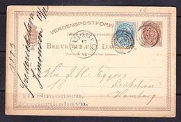 SC-19-80 OPEN LETTER FROM FREDERIKSHAVN TO HAMBURG 17.12.1883. - 1864-04 (Christian IX)