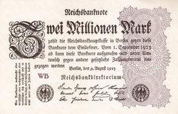 GERMANY P. 104c 2 000 000 M 1923 UNC - [ 3] 1918-1933 : Repubblica  Di Weimar