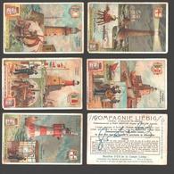 Liebig - Vintage Chromos - Series Of 6 / Série Complète - Phares - En Français - Lighthouse / Vuurtoren - Liebig