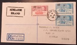 "BAT ANTARCTIC ""ADELAIDE ISLANDS 1973"" + ""R.R.S JOHN BISCOE"" (Falkland Islands Cover Lettre  Polar Base Ship  Polaire - Territoire Antarctique Britannique  (BAT)"