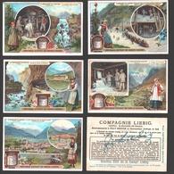 Liebig - Vintage Chromos - Series Of 6 / Série Complète - Le Percement Du Simplon - En Français - Liebig