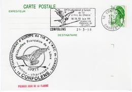 16- CONFOLENS- CHAMPIONNAT D'EUROPE DE TIR A L'ARC -21 MARS 1988- FLAMME OBLITERATION - Confolens