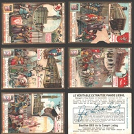 Liebig - Vintage Chromos - Series Of 6 / Série Complète - Hôtels De Ville Célèbres D'Italie - En Français - Italia - Liebig