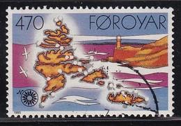 Faroe Islands 1985, Lighthouse Minr 124 Vfu. - Féroé (Iles)
