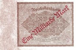 GERMANY P. 113b 1 000 000 000 M 1923 UNC - 1918-1933: Weimarer Republik