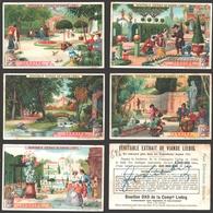 Liebig - Vintage Chromos - Series Of 6 / Série Complète - Jardins - En Français - Liebig