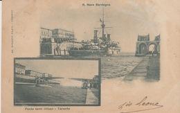 CARTOLINA - TARANTO - R. NAVE SARDEGNA E PONTE SEMICHIUSO - VIAGGIATA - Taranto