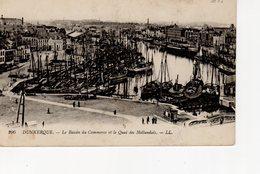 Dunkerque Le Bassin Du Commerce Et Le Quai Des Hollandais ( Flotille Islandaise,  Bateau Feu ... - Dunkerque