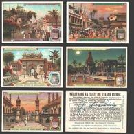 Liebig - Vintage Chromos - Series Of 6 / Série Complète - Aux Indes - En Français - India - Liebig