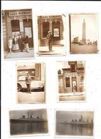 11328 - Lot De 7 Photos De NORMANDIE 1933 Et 1935 , Bateau, Le Havre, Fécamp (radio Normandie) - Lieux