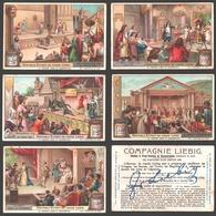 Liebig - Vintage Chromos - Series Of 6 / Série Complète - Le Théâtre (jadis Et Aujourd'hui) - En Français - Liebig
