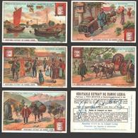 Liebig - Vintage Chromos - Series Of 6 / Série Complète - Modes De Transport Au Japon - En Français - Japan - Liebig