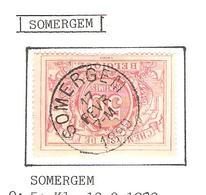 REF186/ CF 21 C.Somergem 17 FEVR 7 M 1890 - Chemins De Fer
