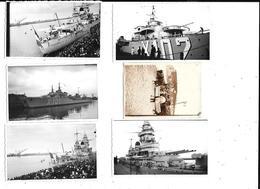11329 - Lot De 6 Photos De NORMANDIE  Etretat Et Le Havre, Bateaux Guerre 1939 - Lieux