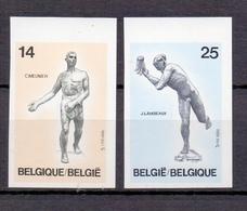 2400/2401 BEELDHOUWWERKEN  ONGETAND   POSTFRIS**  1991 - Belgien