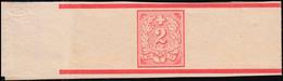 Schweiz Streifband S 1bB Ziegelrot, Ungebraucht / Rückseitig Beschriftet - Schweiz